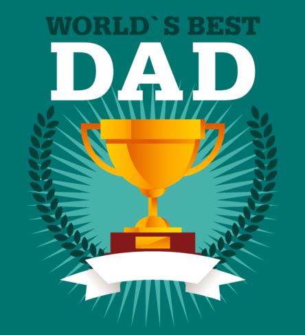 world's best dad trophy